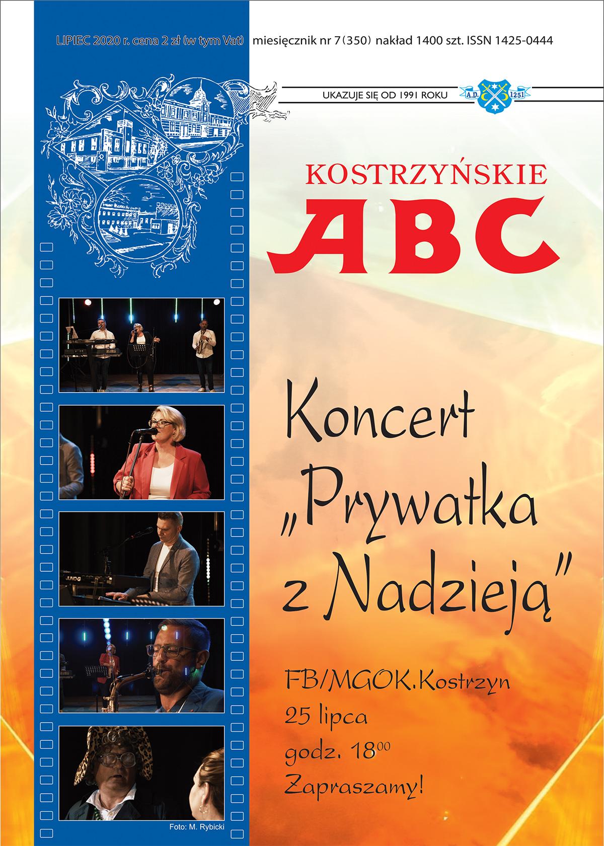 Okładka Kostrzyńskiego ABC miesiąc lipiec