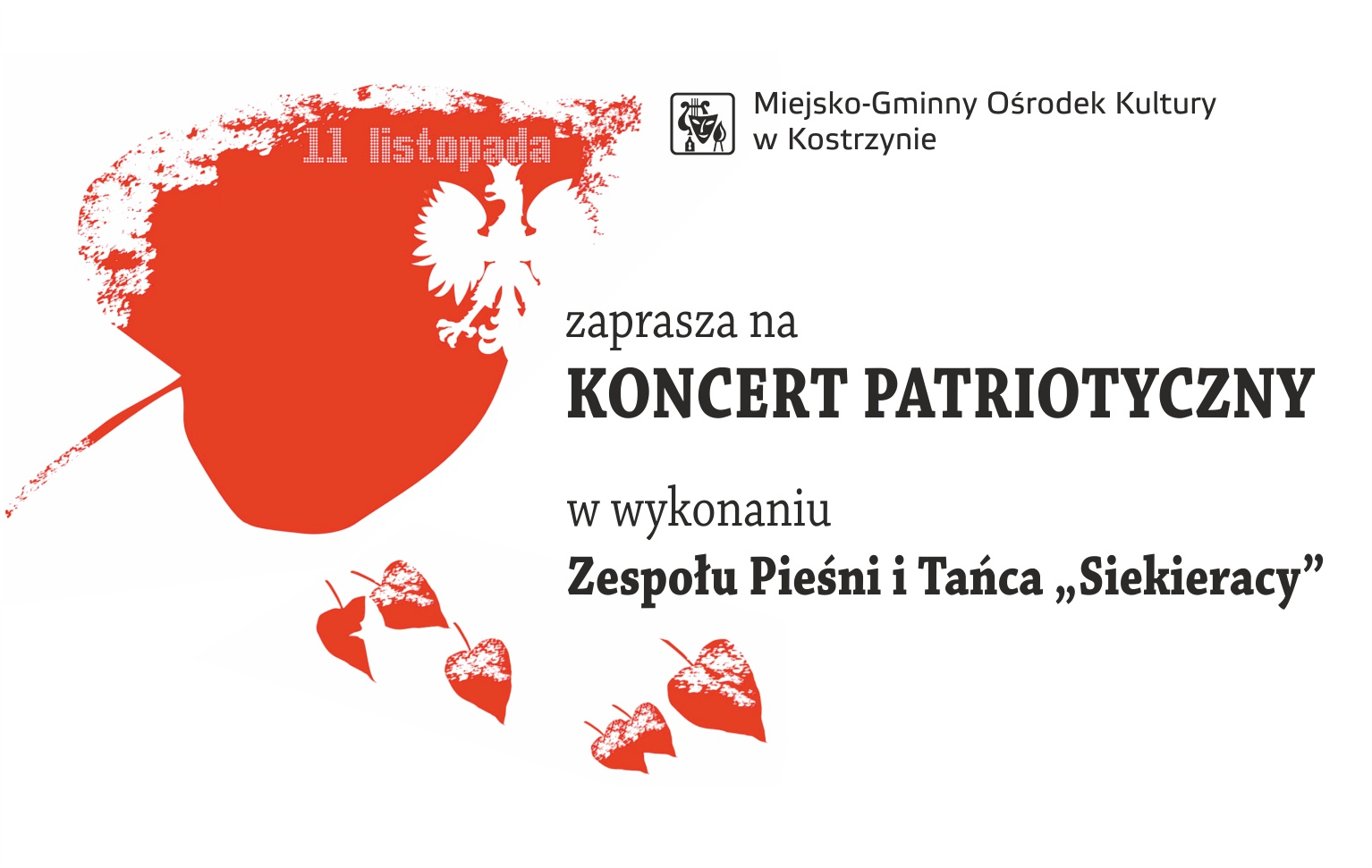 MGOK zaprasza na koncert patriotyczny w wykonaniu Zespołu Piesni i Tańca Siekieracy