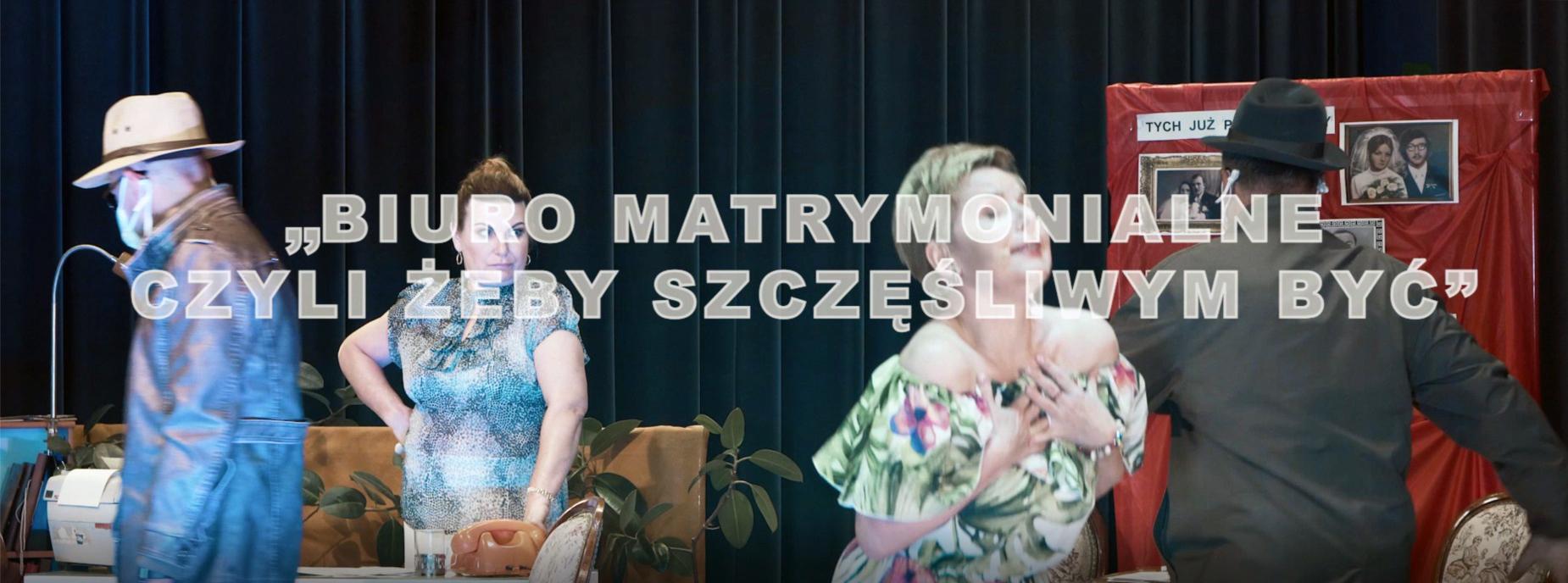 """Plakat koncertu """"Biuro matrymonialne - czyli szczęśliwym byc"""""""