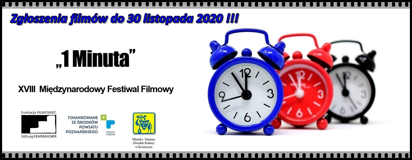 28 Międzynarodowy Festwal Filmowy - 1 Minuta. Zgłoszenia do 30 listopada 2020 roku.