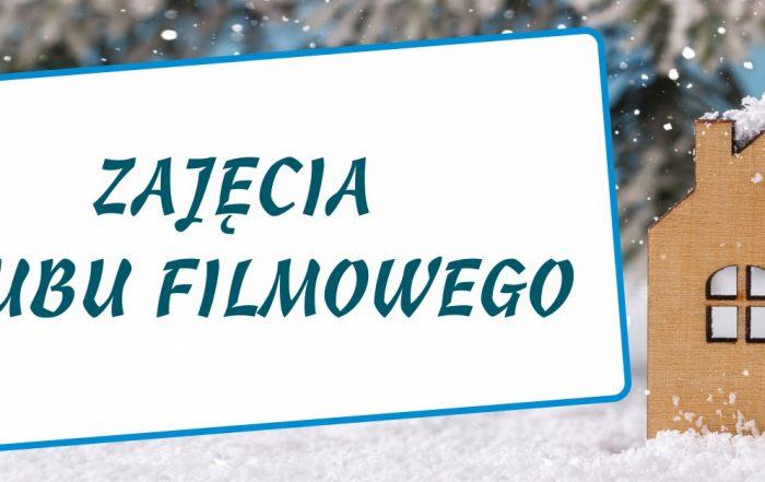 Baner ferii z napisem klub filmowy