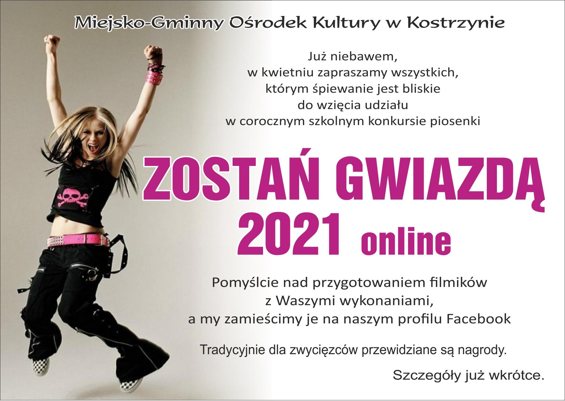 Plakat zaprasza dzieci i młodzież do udziału w konkursie śpiewaczym.