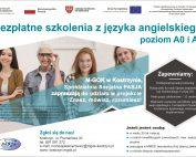 Bezpłatny kurs języka angielskiego, poziom AO i A1, zapisy MGOK, ul. Poznańska 33, tel. 697 091 272