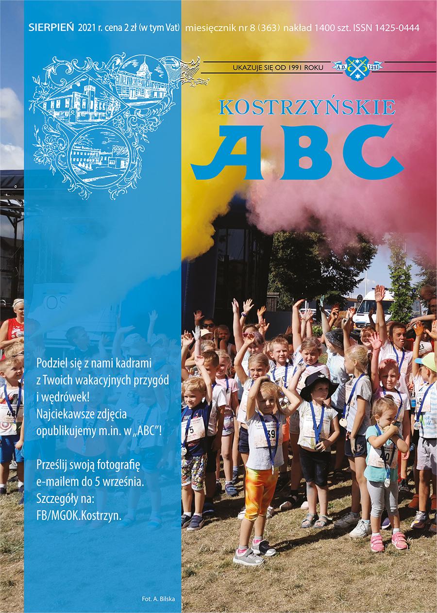 Okładka sierpniowego wydania Kostrzyńskiego ABC