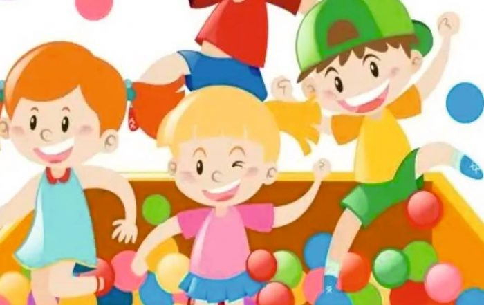 Baner przedstawiający grupę dzieci