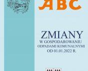 """Okładka wrześniowego wydania ABc przedstawiająca na niebieskim tle napis """"Zmiany w gospodarowaniu odpadami.."""""""